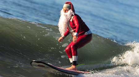 Resultado de imagen para papa noel surfista