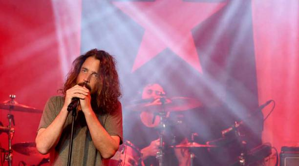 Chris Cornell, vocalista de las bandas de rock alternativo (grunge) Audioslave y Soundgarden. Foto: AFP